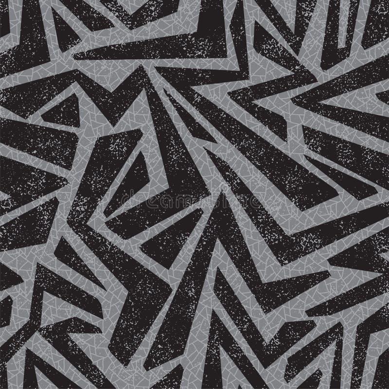 Teste padrão sem emenda dos grafittis de Absract. Vetor ilustração stock