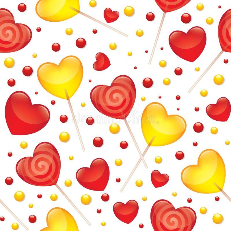 Teste padrão sem emenda dos Lollipops ilustração stock