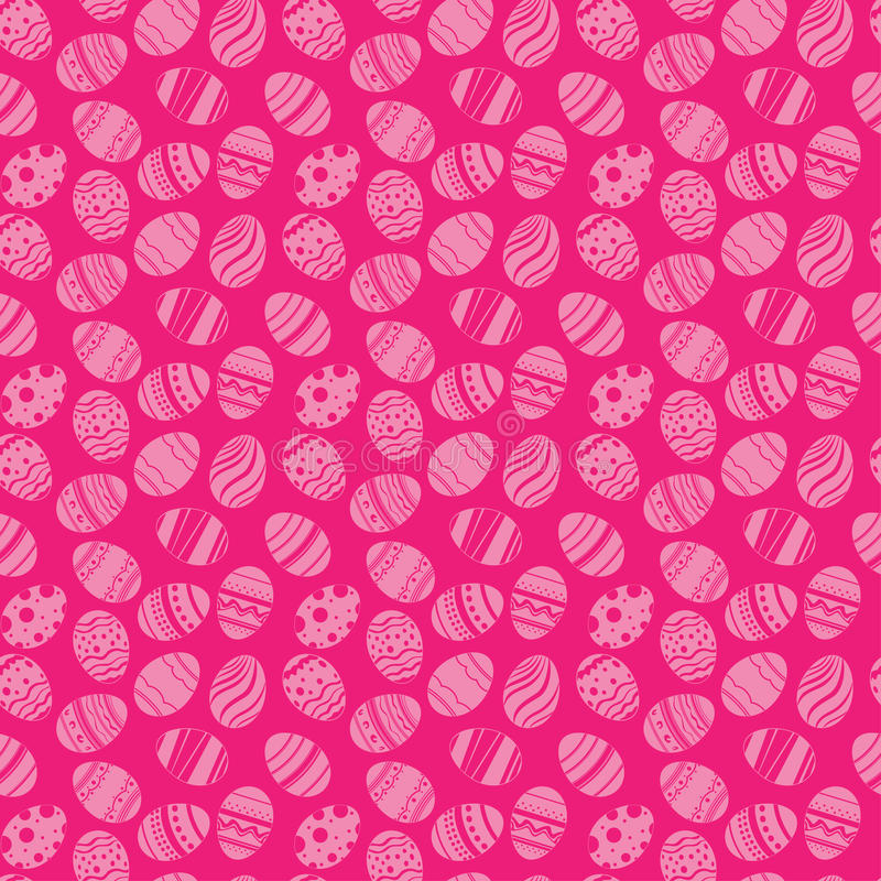 Teste padrão sem emenda dos ornamento dos ovos da páscoa Fundo do rosa do feriado da Páscoa para imprimir na tela, papel para scr ilustração royalty free