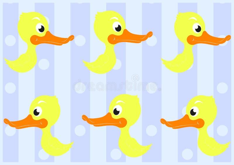 Teste Padrão Sem Emenda Dos Patos Bonitos Fotografia de Stock Royalty Free