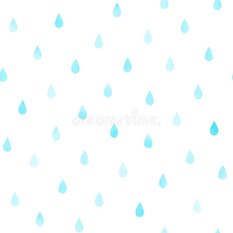 Teste padrão sem emenda dos pingos de chuva ilustração stock