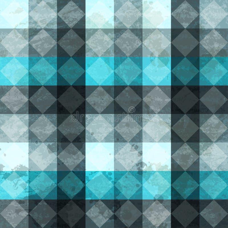 Teste padrão sem emenda dos rombuses azuis do vintage ilustração do vetor