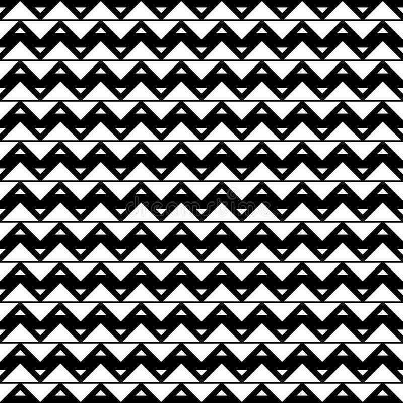 Teste padrão sem emenda dos triângulos Fundo geométrico do ziguezague fotografia de stock