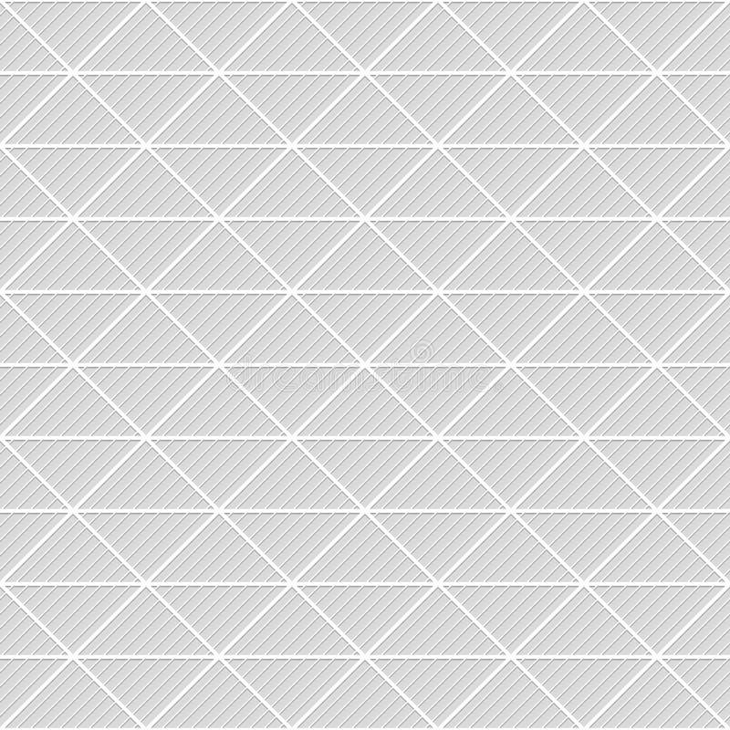 Teste padrão sem emenda dos triângulos Fundo listrado geométrico fotografia de stock royalty free