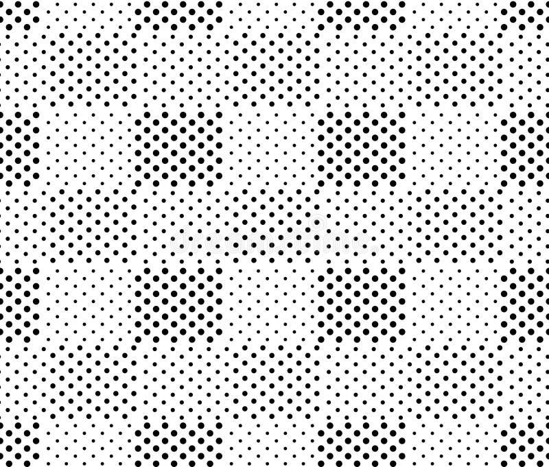 Teste padrão sem emenda doted preto e branco simples do geo dos quadrados, vetor ilustração royalty free