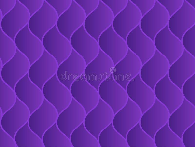 Teste padrão sem emenda elegante violeta ondulado abstrato ilustração royalty free
