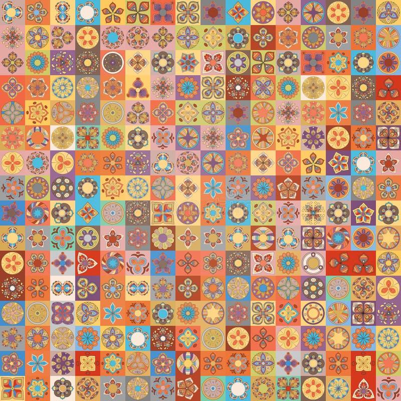 Teste padrão sem emenda Elementos decorativos do vintage Fundo tirado mão Islã, árabe, indiano, motivos do otomano Aperfeiçoe imp ilustração stock