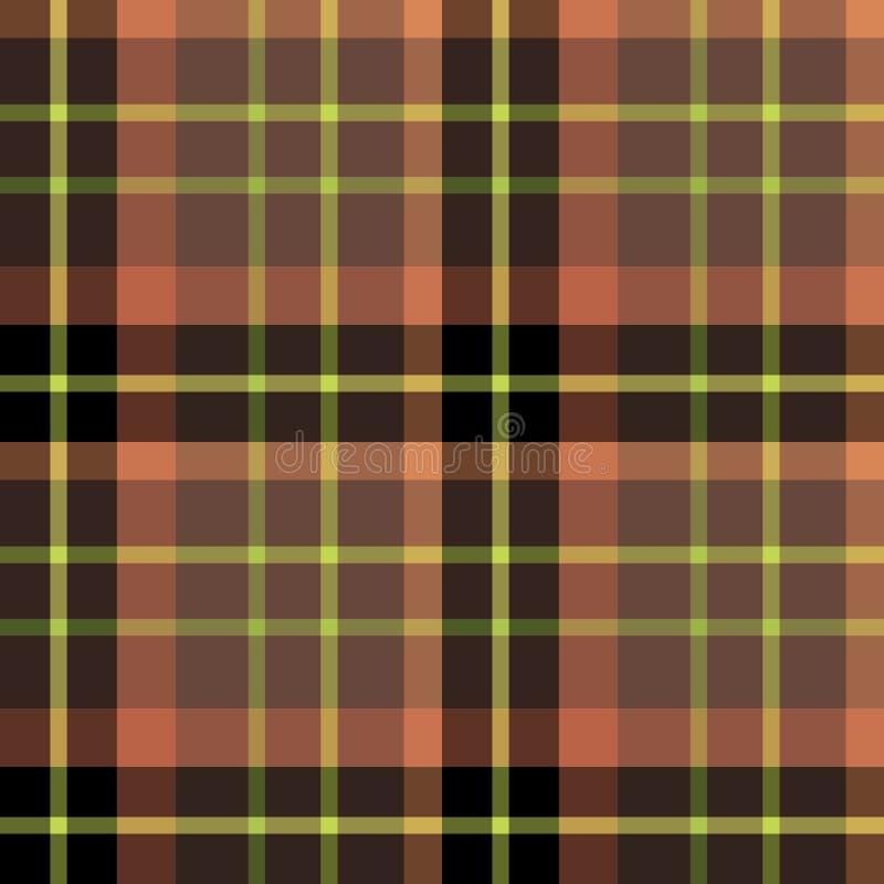 Teste padrão sem emenda em cores pretas, discretos do vermelho e de verde-lima para a manta, a tela, a matéria têxtil, a roupa, a ilustração stock