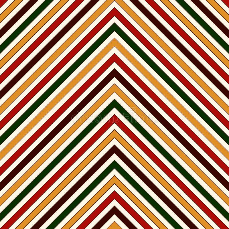 Teste padrão sem emenda em cores tradicionais do Natal A diagonal brilhante das cores de Chevron alinha o fundo abstrato ilustração stock