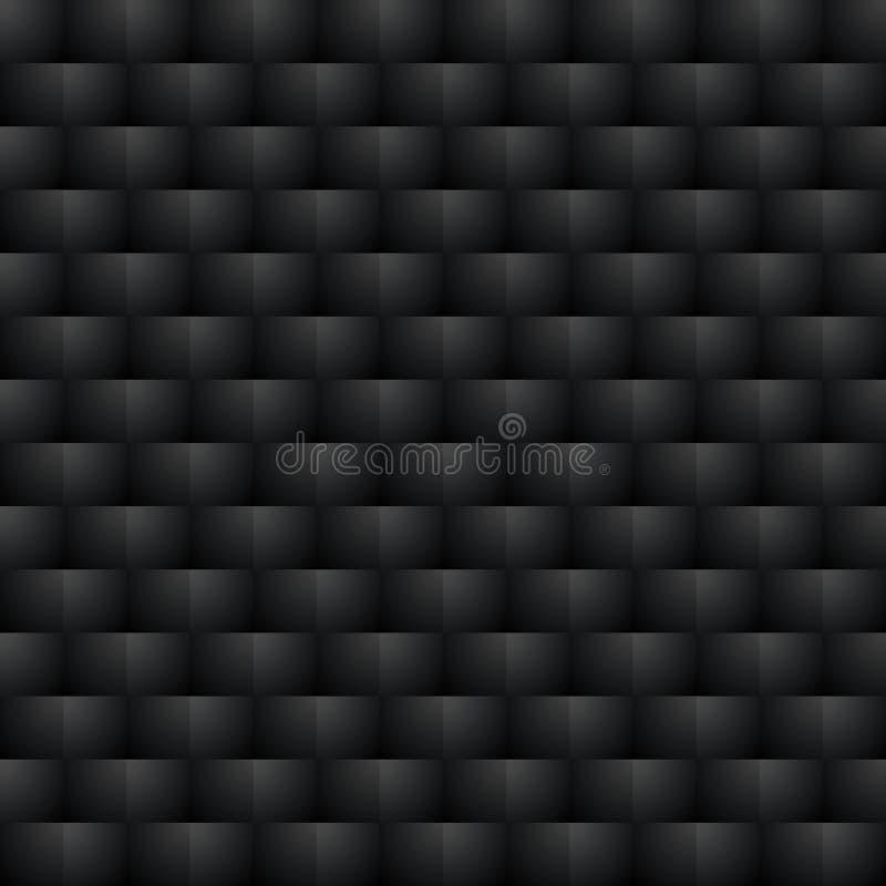 Teste padrão sem emenda escuro fundo da ilusão 3d ótica ilustração stock