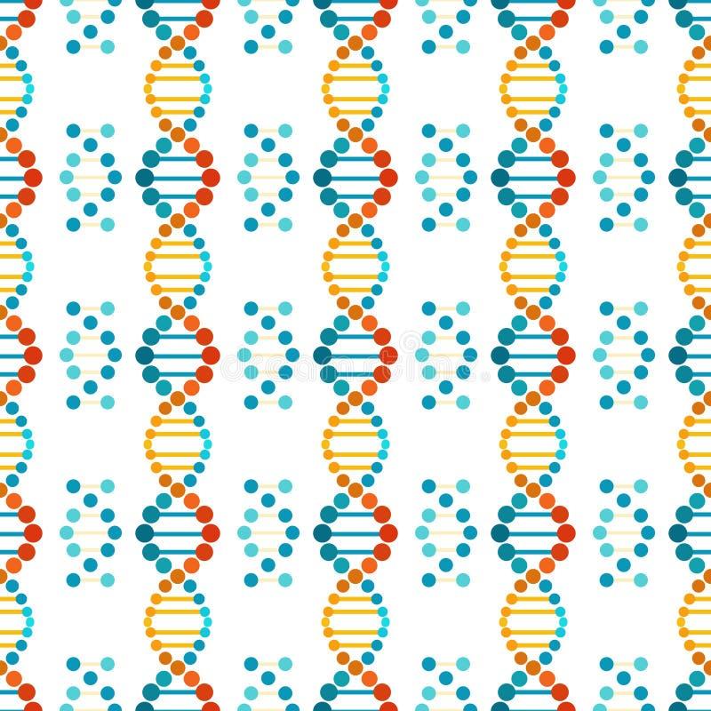 Teste padrão sem emenda espiral colorido do ADN ilustração royalty free