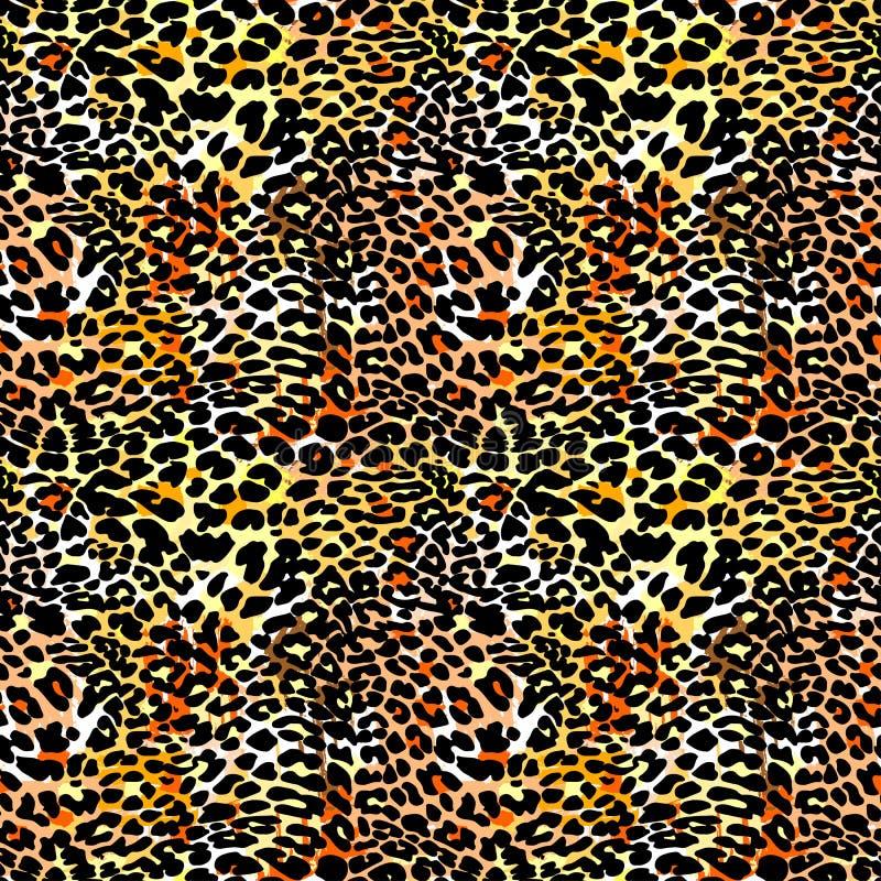 Teste padrão sem emenda exótico do leopardo da forma ilustração royalty free