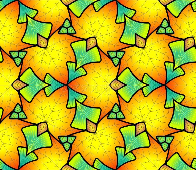 Teste padrão sem emenda feito das folhas coloridas ilustração stock