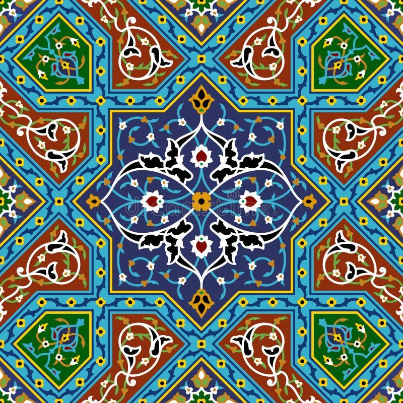 Teste padrão sem emenda floral árabe ilustração royalty free