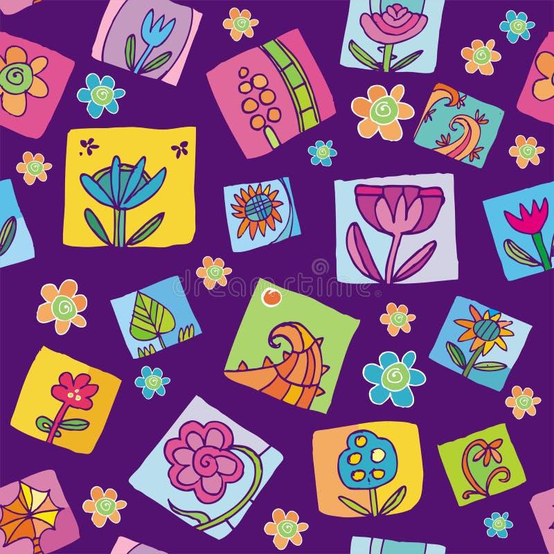 Download Teste Padrão Sem Emenda Floral Ilustração do Vetor - Ilustração de azul, nave: 12802202