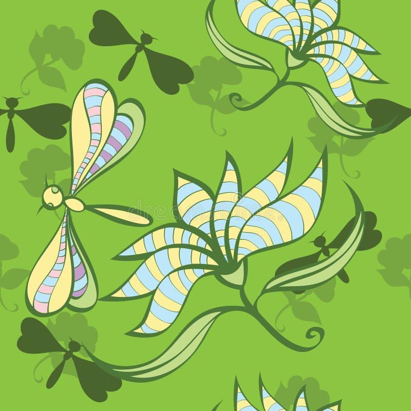 Download Teste Padrão Sem Emenda Floral Ilustração do Vetor - Ilustração de besouro, isolado: 16865222