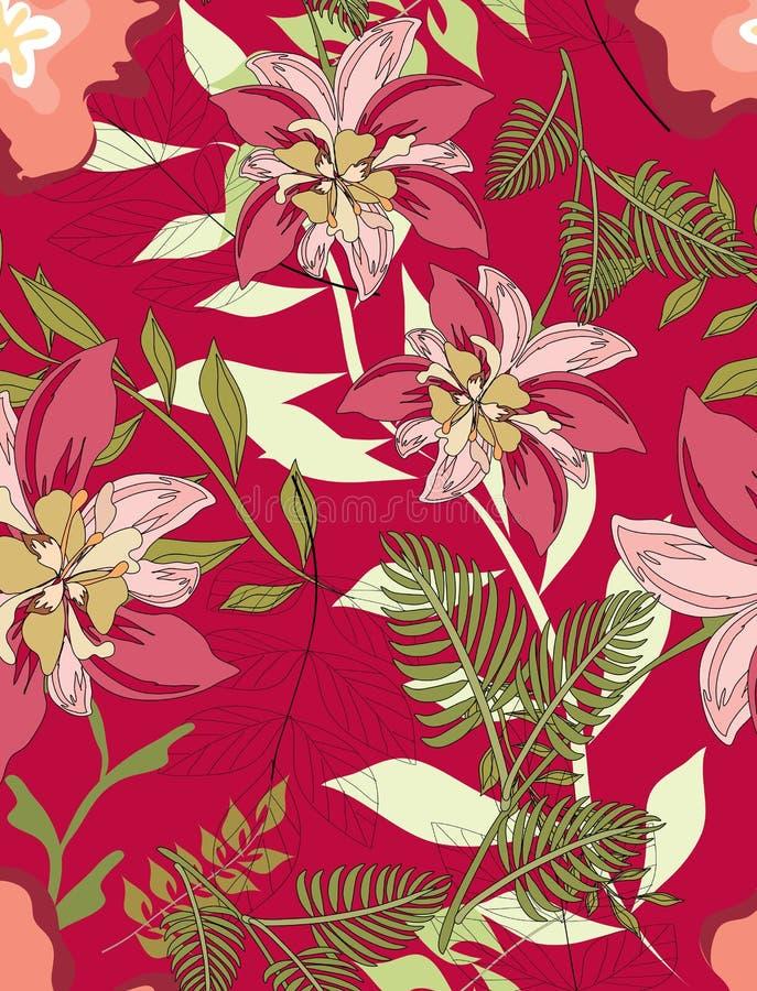 Teste padrão sem emenda floral imagens de stock royalty free