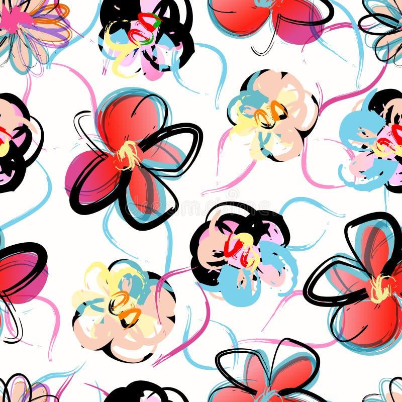 Teste padrão sem emenda floral ilustração stock
