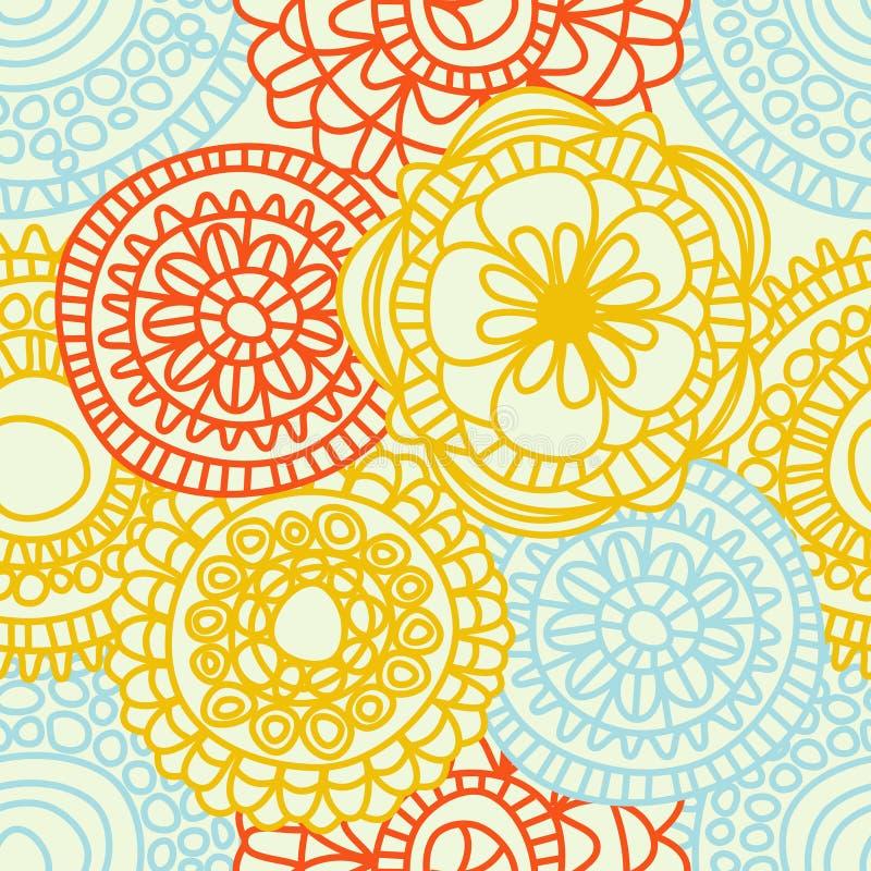 Teste padrão sem emenda floral abstrato ilustração royalty free