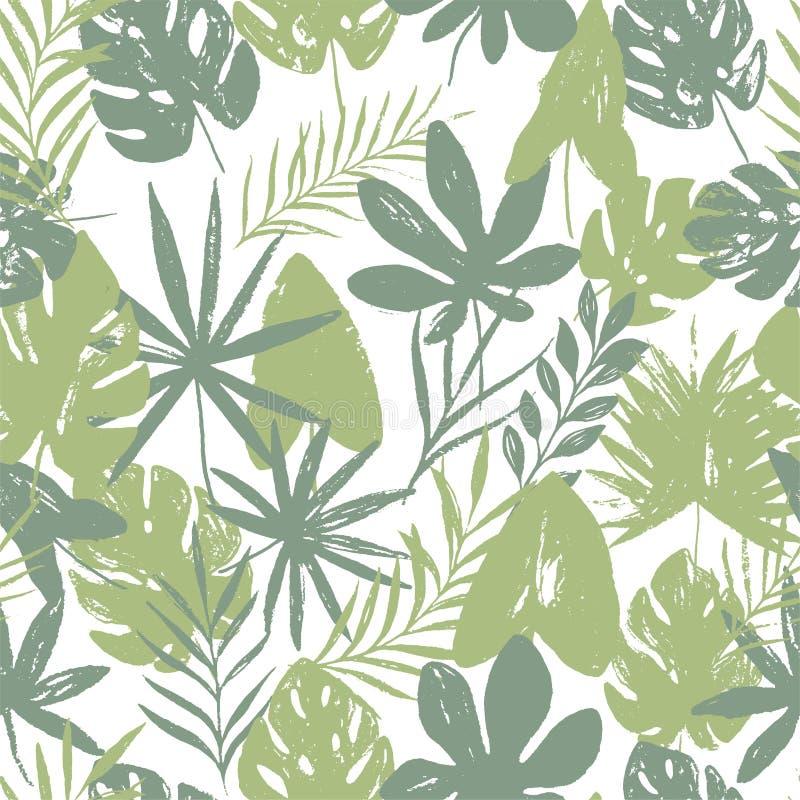 Teste padrão sem emenda floral brilhante do verão abstrato com mão na moda texturas tiradas ilustração stock