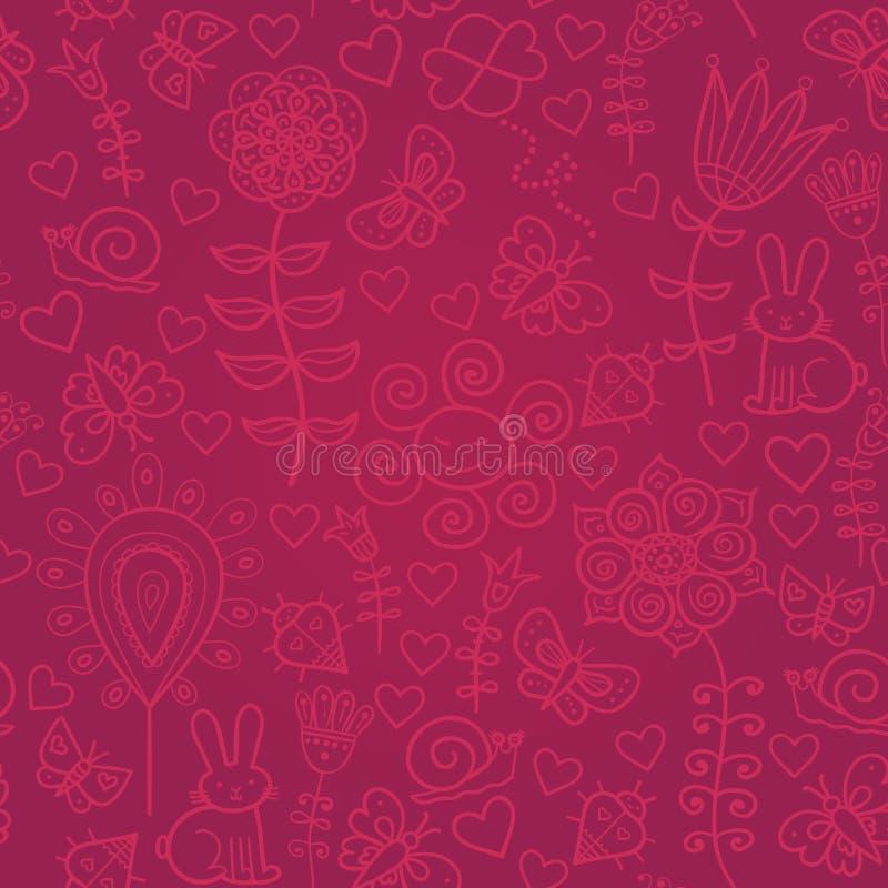 Teste padrão sem emenda floral colorido bonito ilustração do vetor