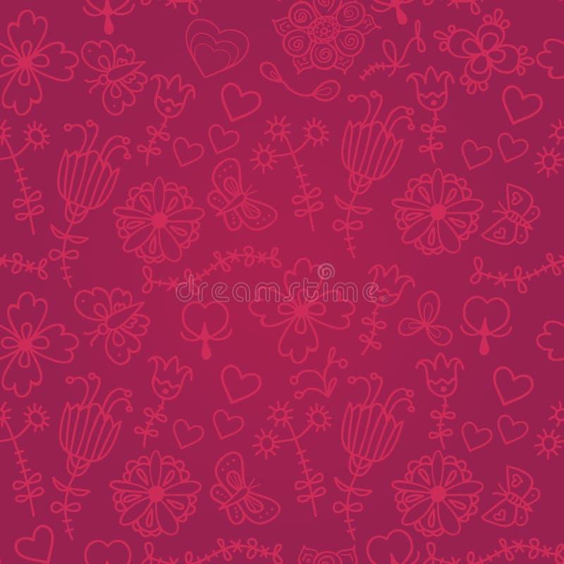 Teste padrão sem emenda floral colorido bonito ilustração royalty free