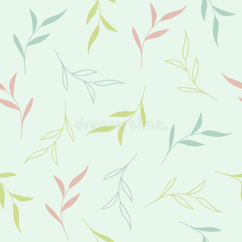 Teste padrão sem emenda floral colorido delicado Fundo para a cópia da tela, projeto do vetor do papel de parede ilustração do vetor