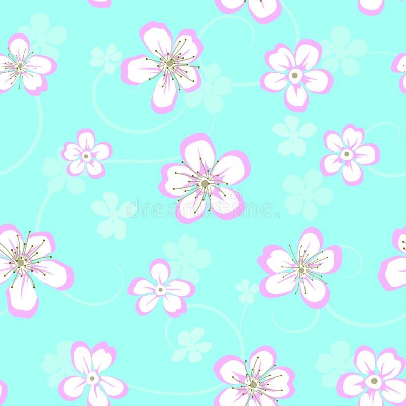 Teste padrão sem emenda floral com flores ilustração royalty free