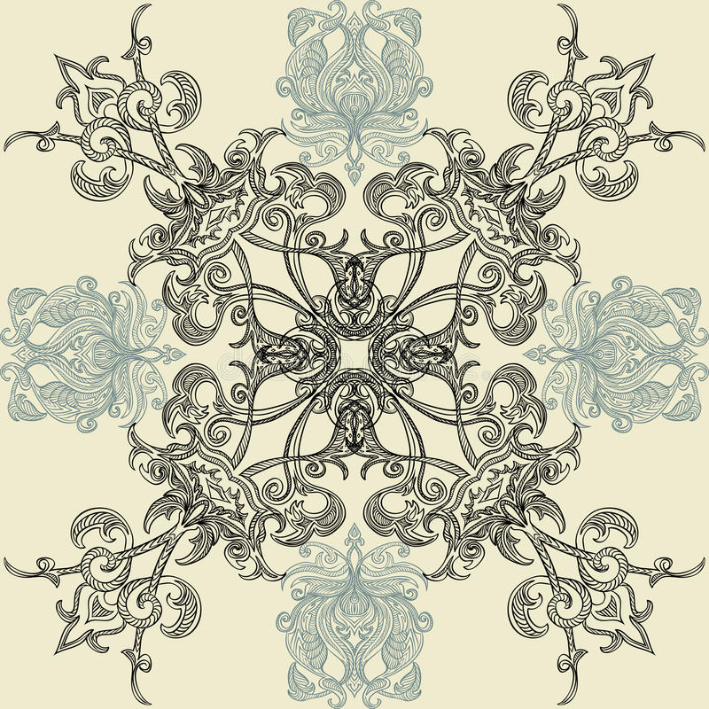 Teste padrão sem emenda floral com o ornamento árabe islâmico ilustração royalty free
