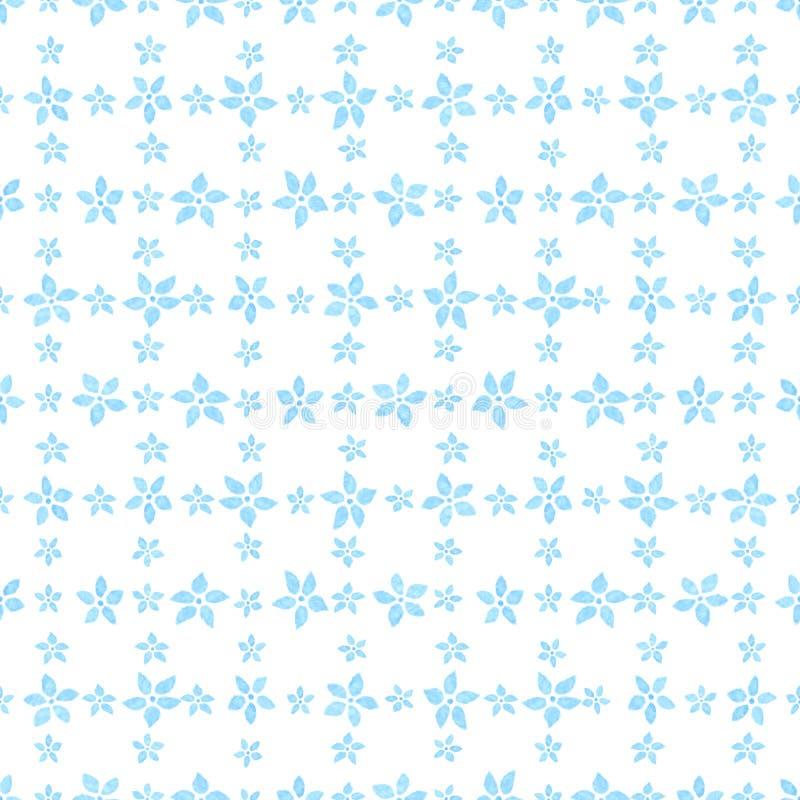 Teste padrão sem emenda floral da aguarela Ilustração do vetor Fundo A textura infinita pode ser usada imprimindo na tela e no pa ilustração royalty free