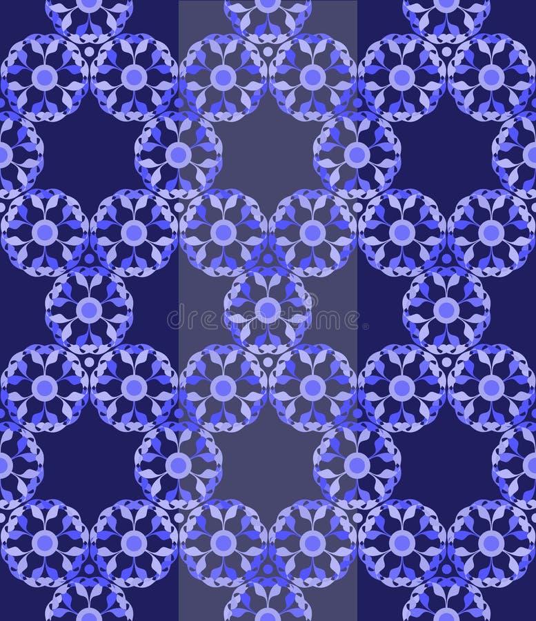 Teste padrão sem emenda floral do laço abstrato ilustração stock
