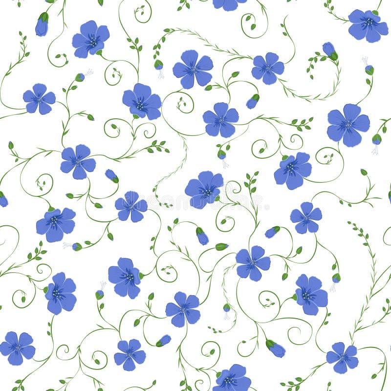 Teste padrão sem emenda floral do linho ilustração royalty free