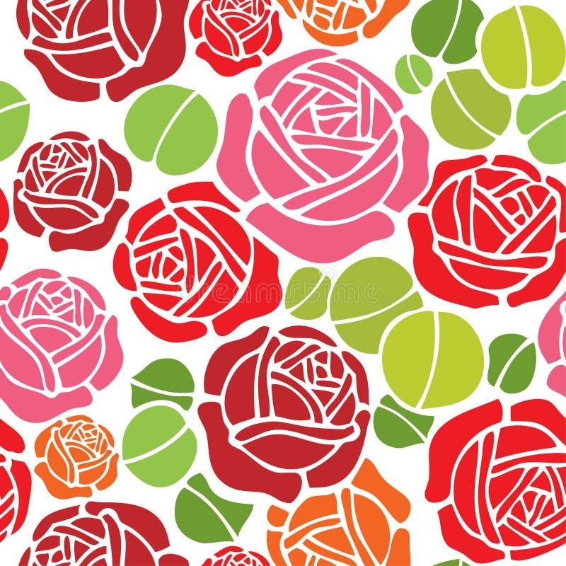 Teste padrão sem emenda floral do papel de parede ilustração do vetor