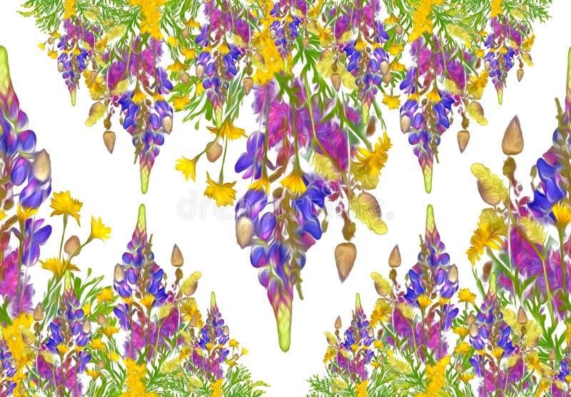 Teste padrão sem emenda floral do quadro estilizado - ramalhete para o convite fotos de stock royalty free