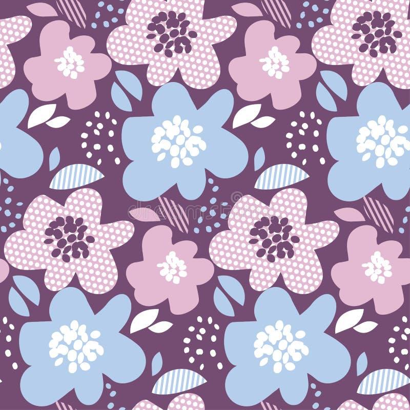 Teste padrão sem emenda floral do sumário macio da cor ilustração do vetor