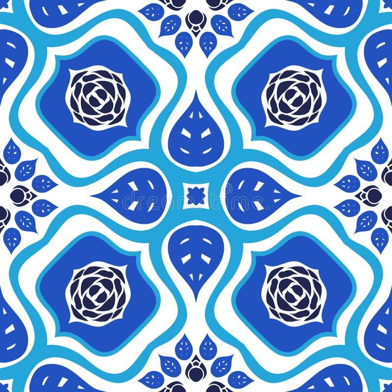 Teste padrão sem emenda floral do vetor com ornamento corajoso ilustração stock