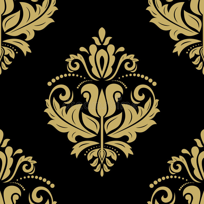 Teste padrão sem emenda floral do vetor Sumário de Oriente ilustração royalty free