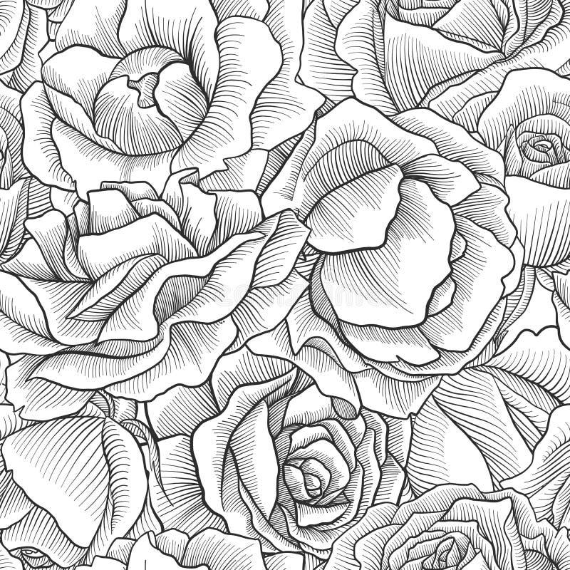 Teste padrão sem emenda floral do vetor do vintage ilustração stock