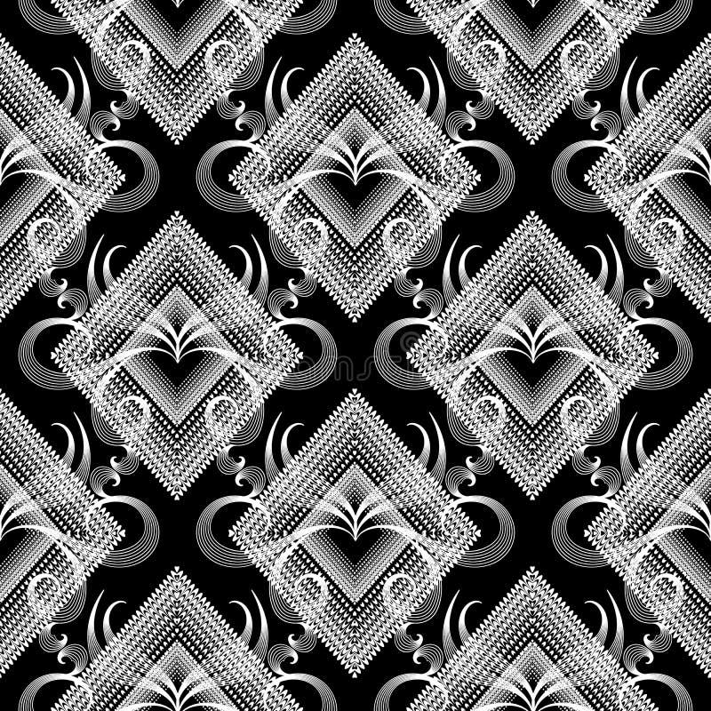 Teste padrão sem emenda floral Fundo abstrato do vetor Dott do Grunge ilustração royalty free