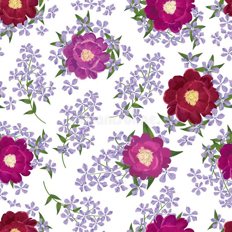 Teste padrão sem emenda floral Fundo da flor Texto sem emenda floral ilustração royalty free