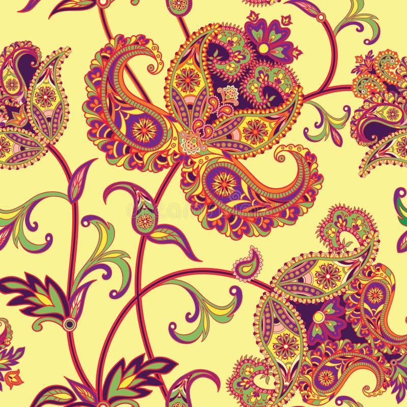 Teste padrão sem emenda floral Fundo da flor Texto sem emenda floral ilustração stock