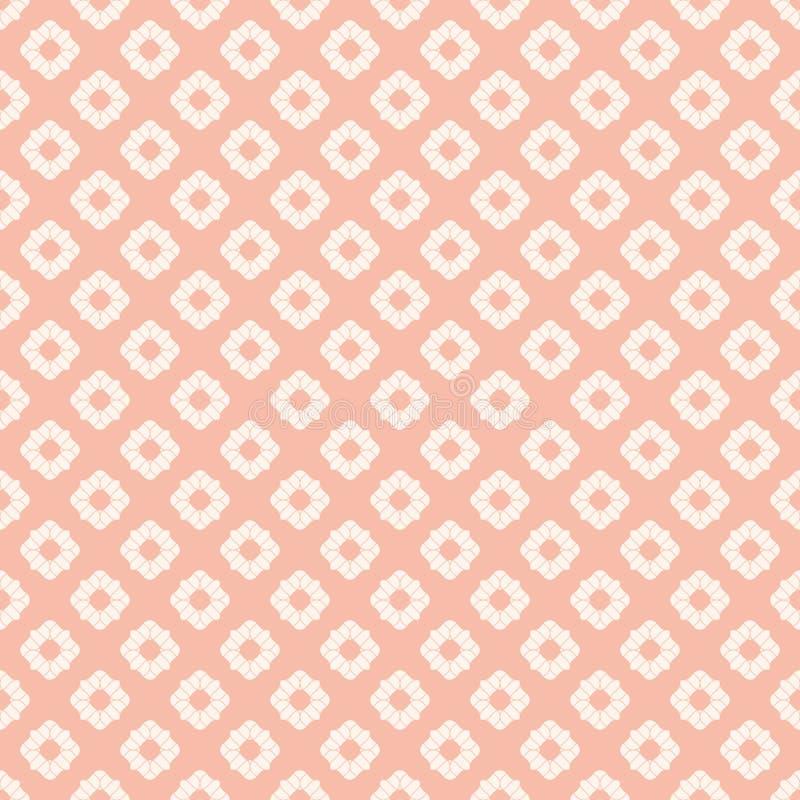 Teste padr?o sem emenda floral geom?trico sutil do rosa e o branco do sum?rio Estilo asi?tico ilustração royalty free