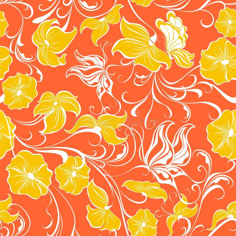 Teste padrão sem emenda floral. Ilustração do vetor   ilustração stock