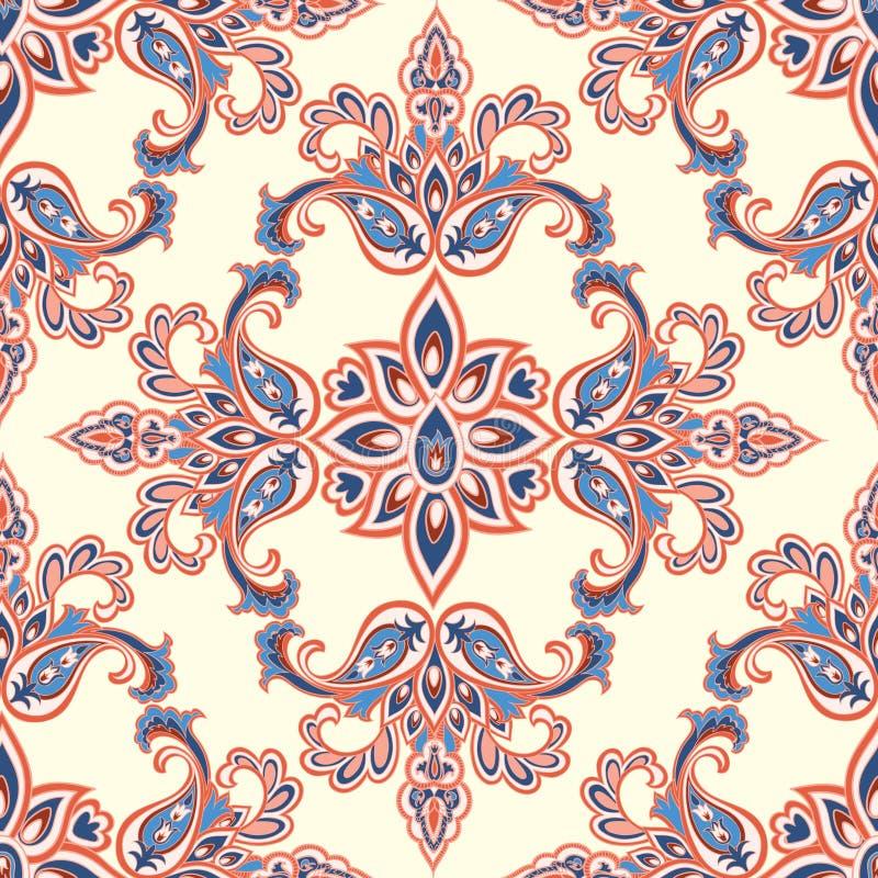 Teste padrão sem emenda floral oriental Vagabundos decorativos geométricos da flor ilustração stock