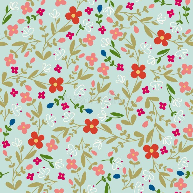 Teste padrão sem emenda floral popular do vetor ilustração stock