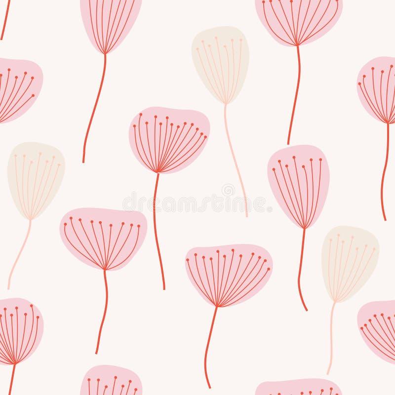 Teste padrão sem emenda Flores ilustração royalty free