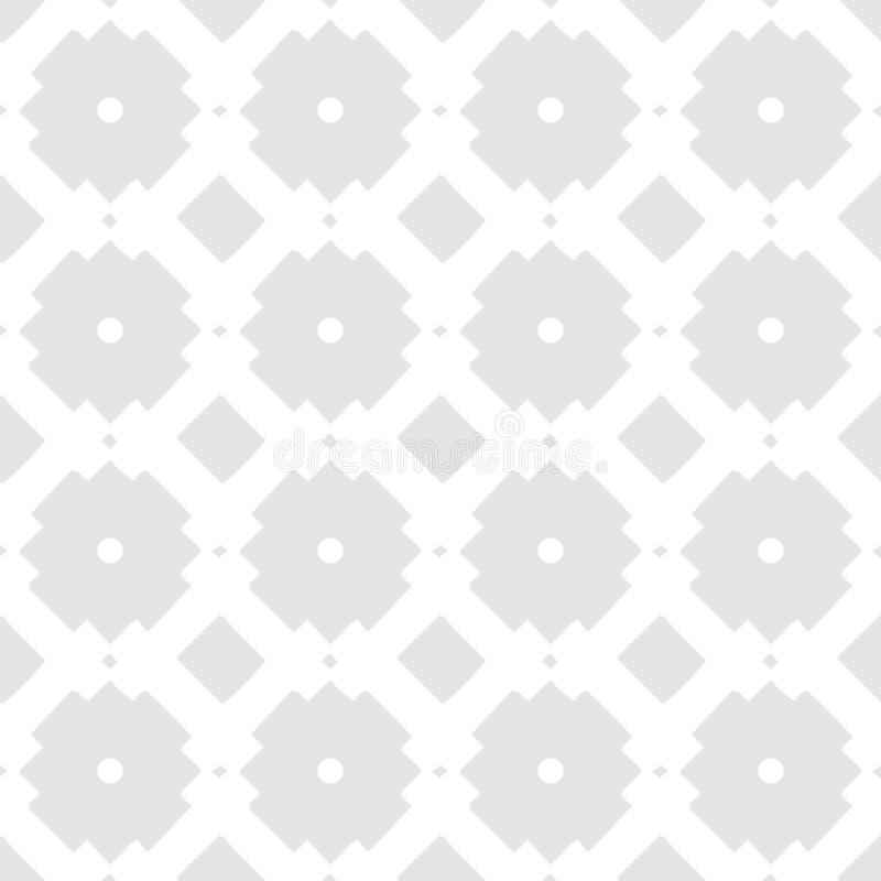 Teste padrão sem emenda geométrico étnico branco do vetor no fundo cinzento fotos de stock
