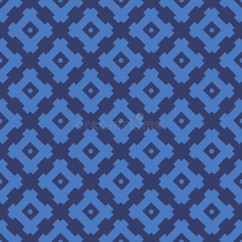 Teste padrão sem emenda geométrico étnico do vetor azul abstrato fotos de stock