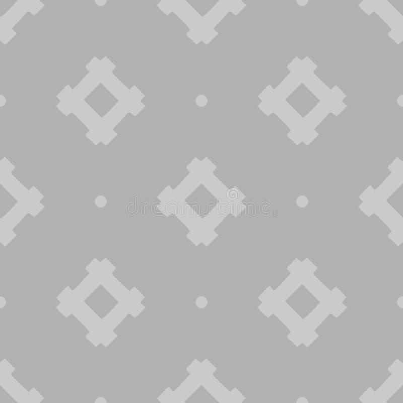 Teste padrão sem emenda geométrico étnico do vetor cinzento do sumário no fundo cinzento foto de stock
