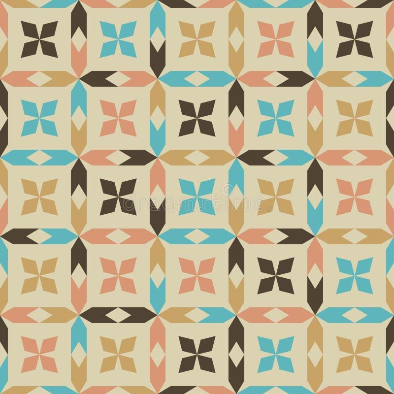 Teste padrão sem emenda geométrico abstrato ilustração royalty free